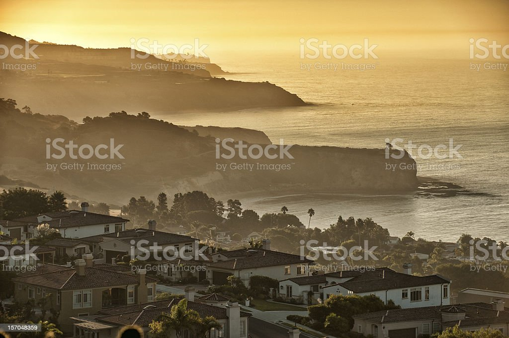 Dawn at Palos Verdes, Los Angeles stock photo