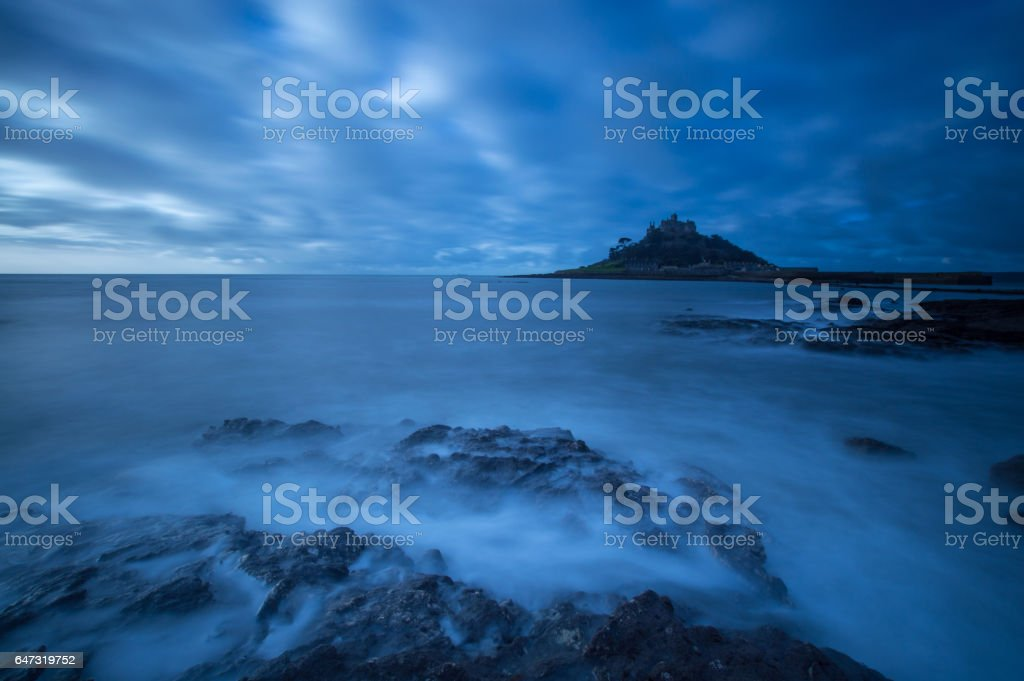 Dawn at St Michael's Mount stock photo