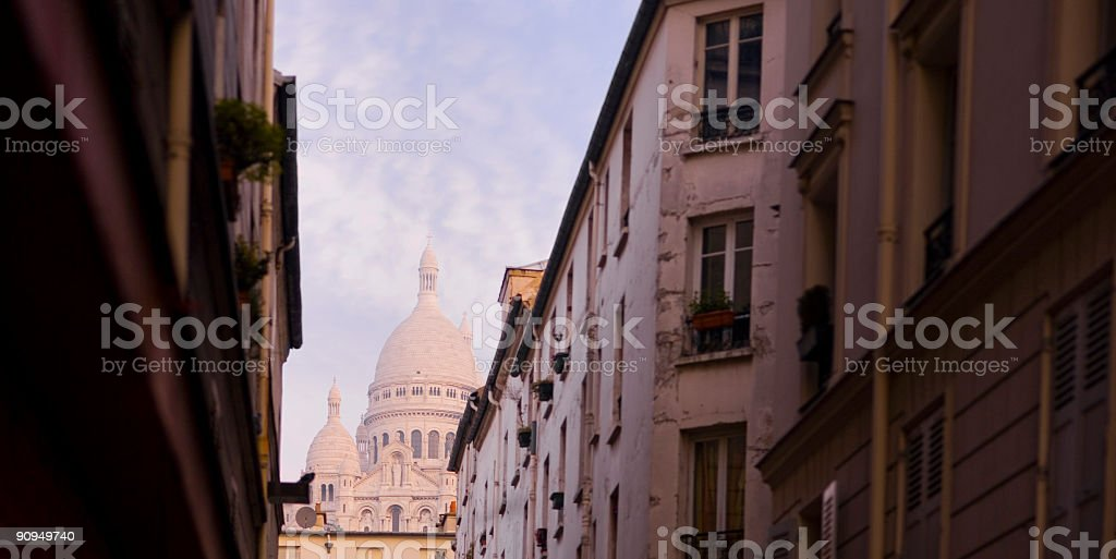 Dawn at the Basilica du Sacre Coeur, Paris royalty-free stock photo