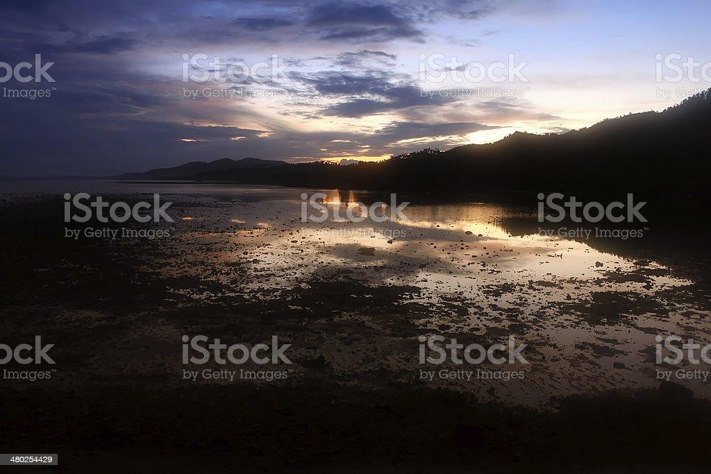 Dawn at the Beach stock photo