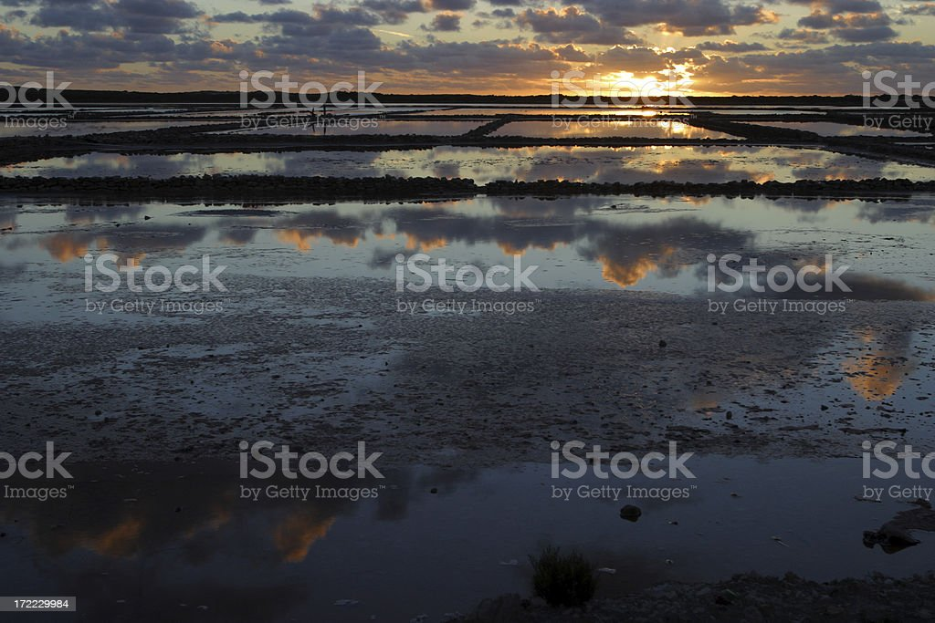 Dawn at the Salt Ponds royalty-free stock photo