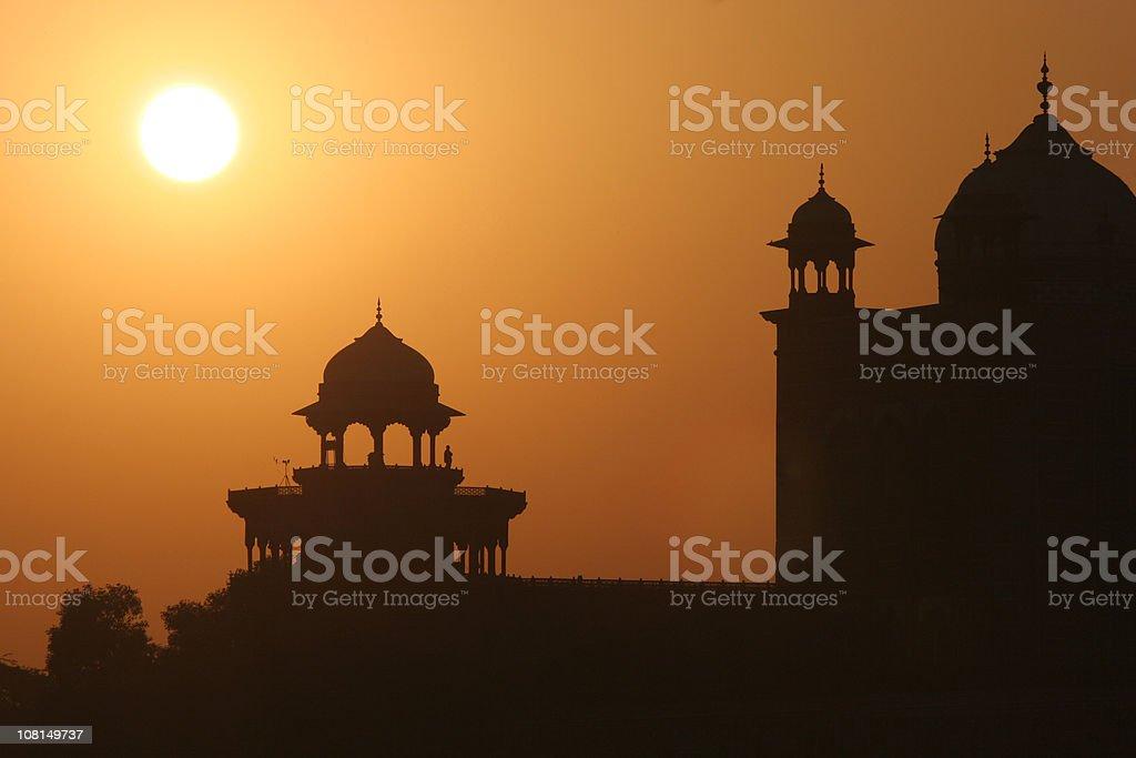 Dawn at the Taj Mahal, Agra, India stock photo