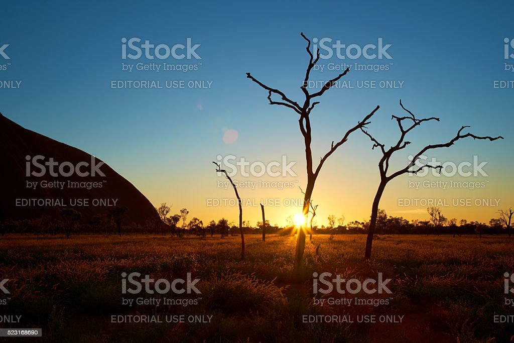Dawn At Uluru stock photo