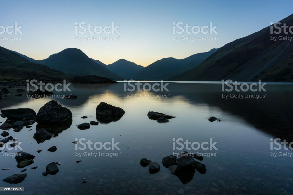 Dawn At Wastwater In The English Lake District. stock photo