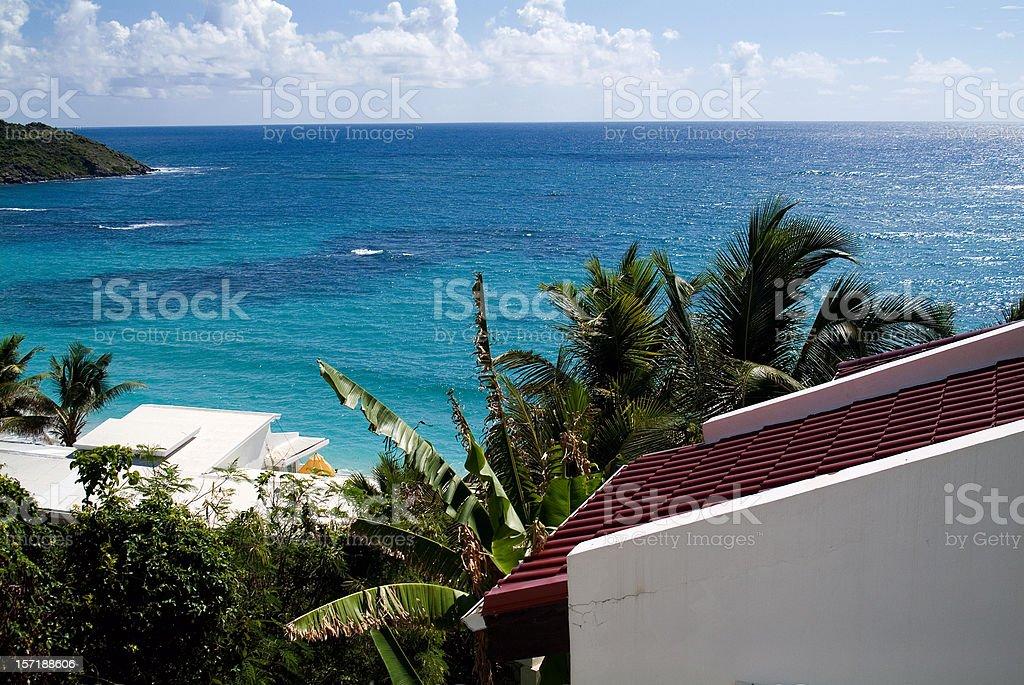 Dawn Beach, Island of Saint Maarten stock photo