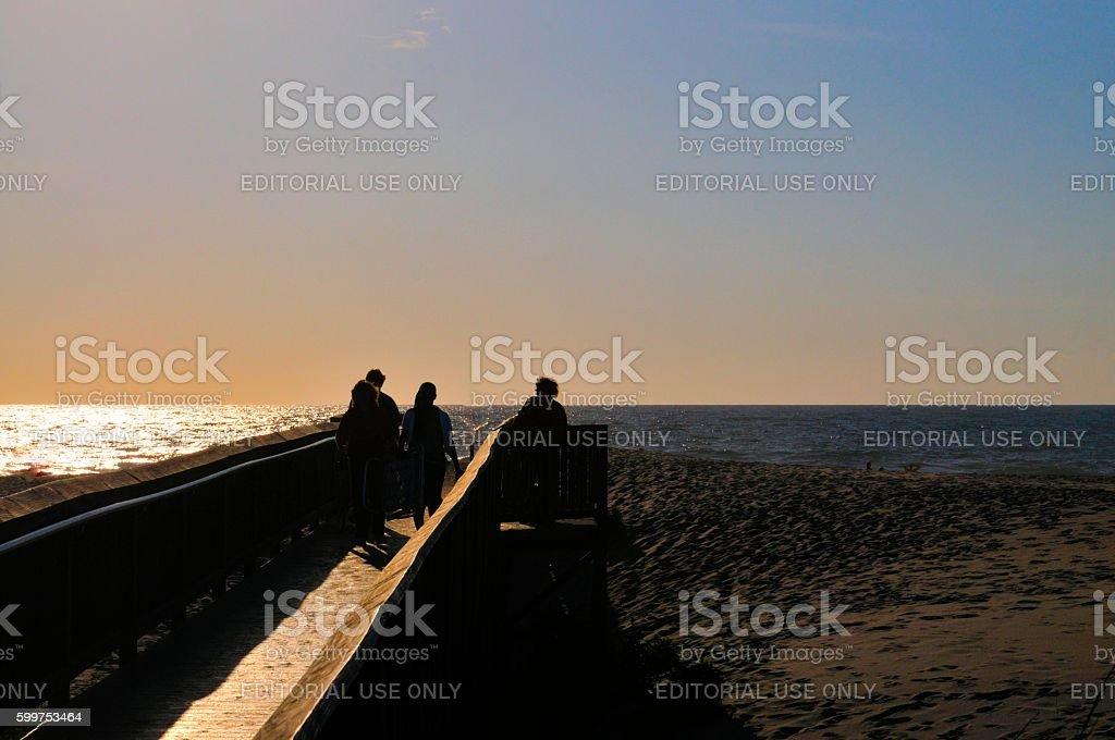 Dawn Beach Tourist stock photo