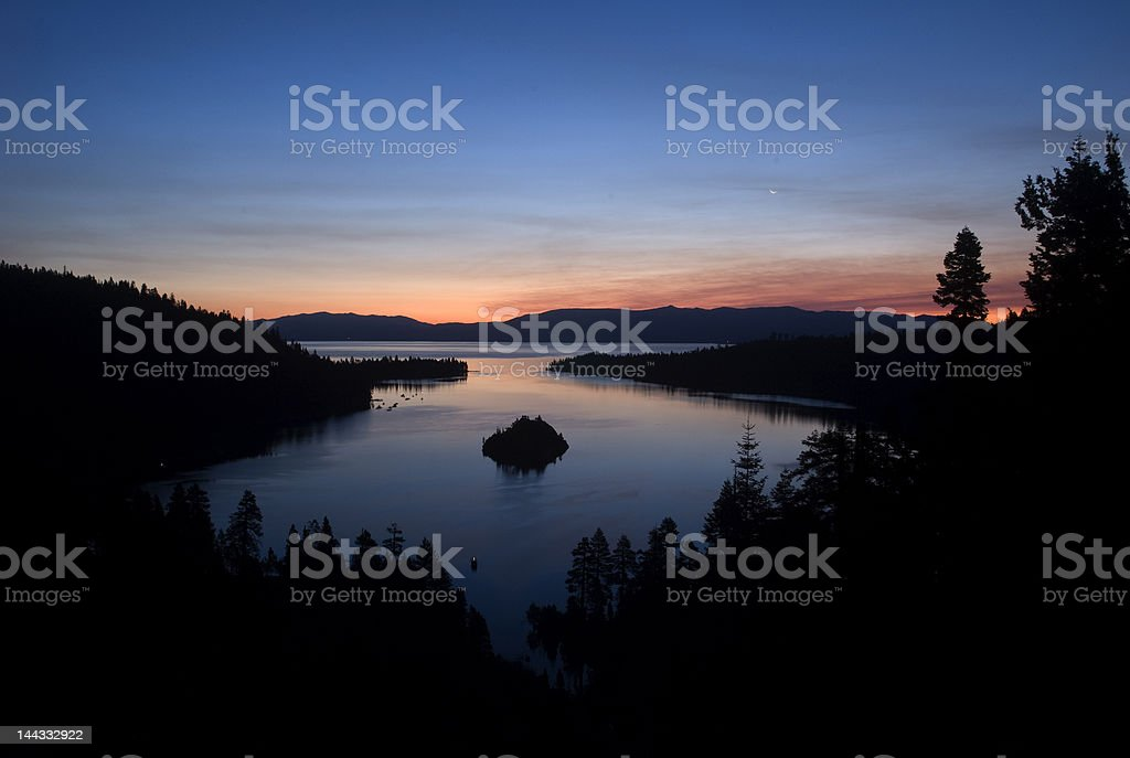 Dawn Breaks at Lake Tahoe royalty-free stock photo