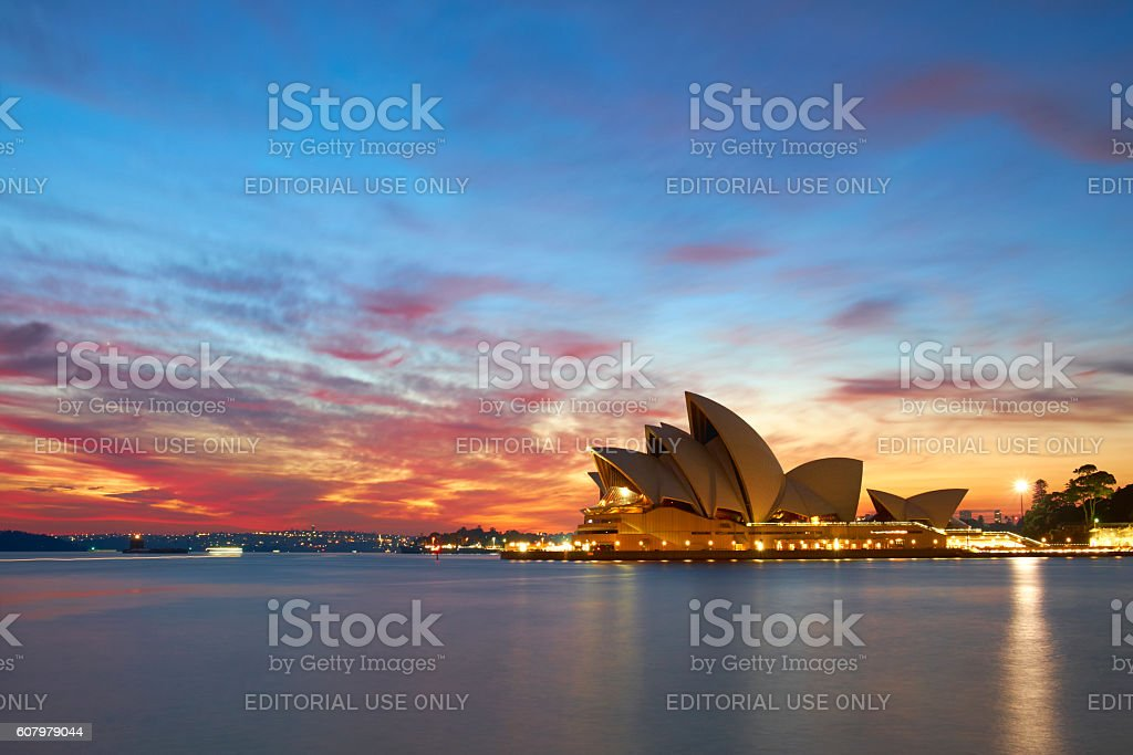 Dawn Breaks Over Sydney Harbour stock photo