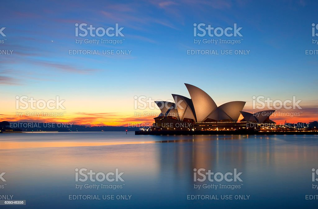 Dawn Breaks Over The Sydney Opera House stock photo
