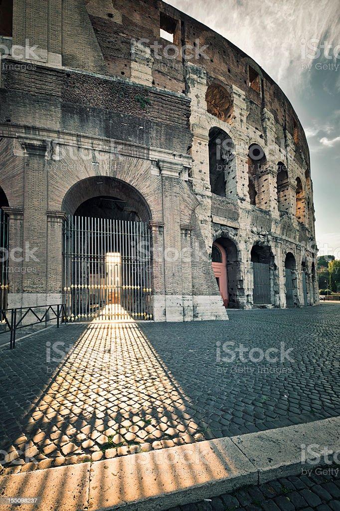 Dawn Colosseum Light royalty-free stock photo