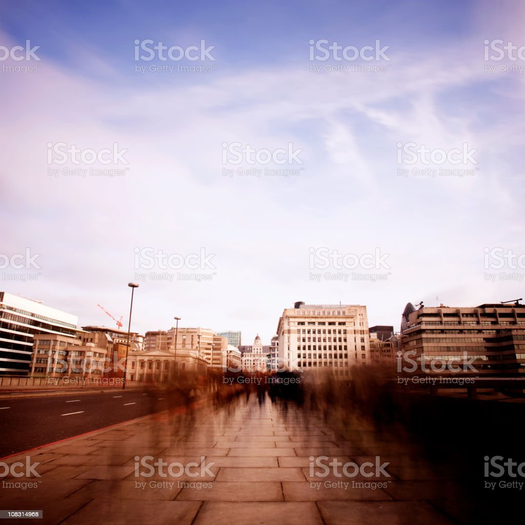 Dawn commuters royalty-free stock photo