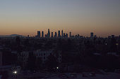 Dawn Downtown Los Angeles Skyline