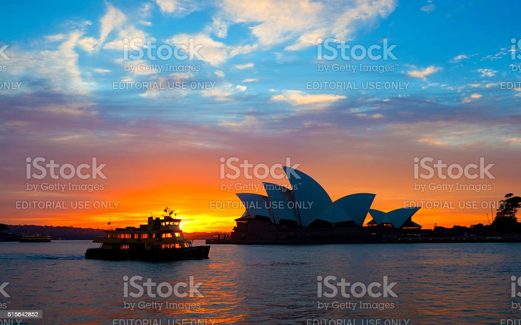Dawn Ferry And The Sydney Opera House stock photo