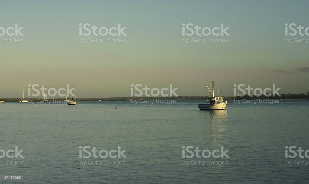 Dawn Fishing royalty-free stock photo