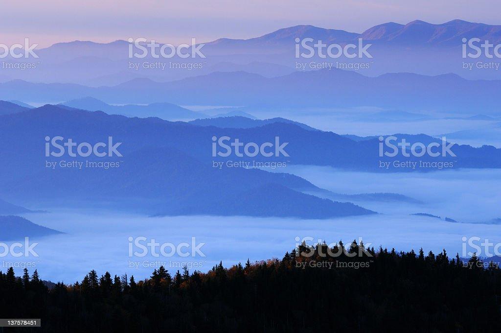 Dawn, Great Smoky Mountains stock photo