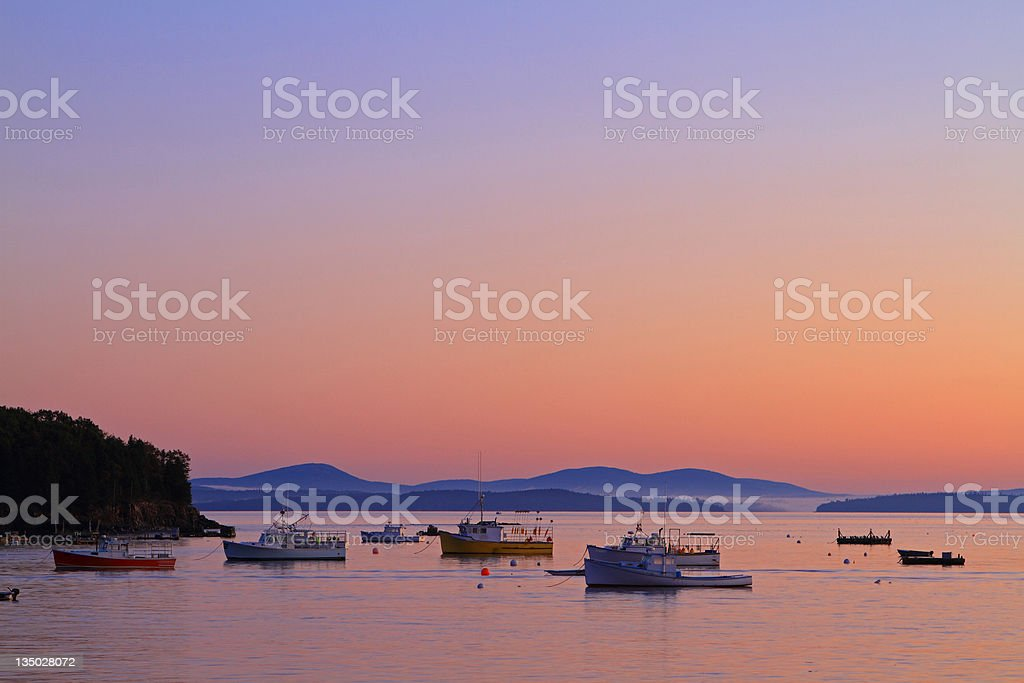 Dawn Harbor stock photo