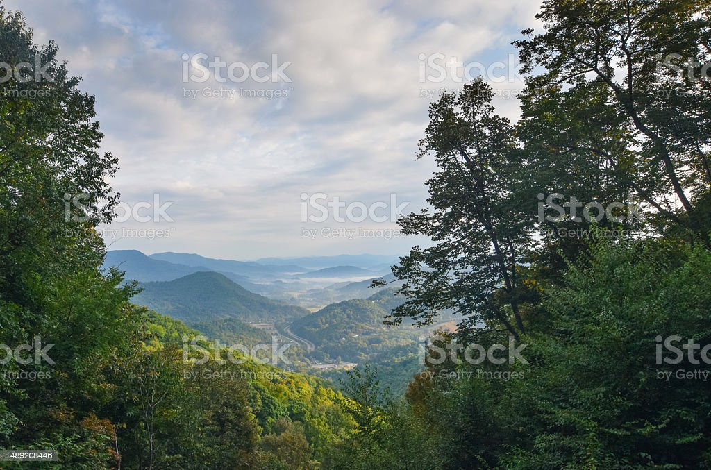 Dawn in Appalachian Valley stock photo