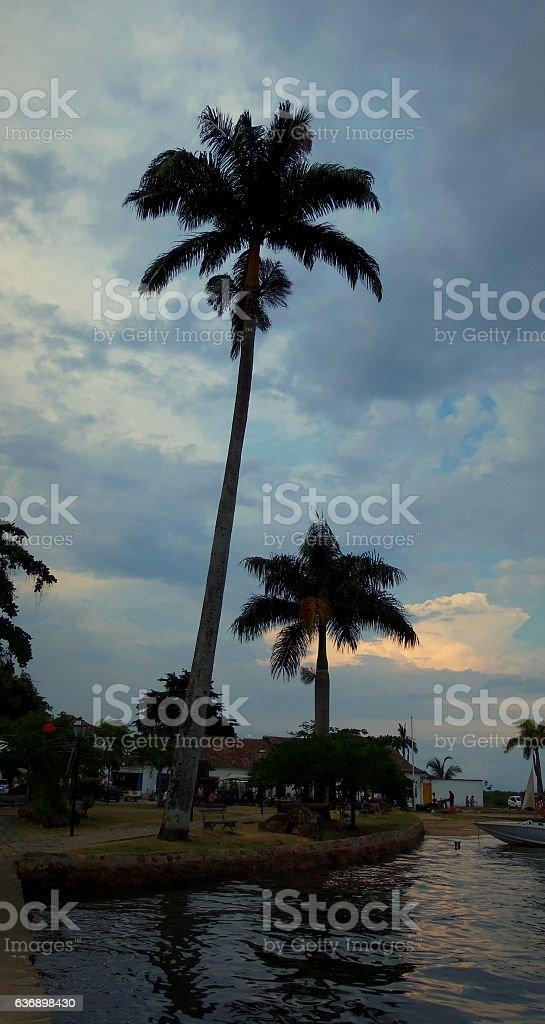 dawn in Paraty stock photo