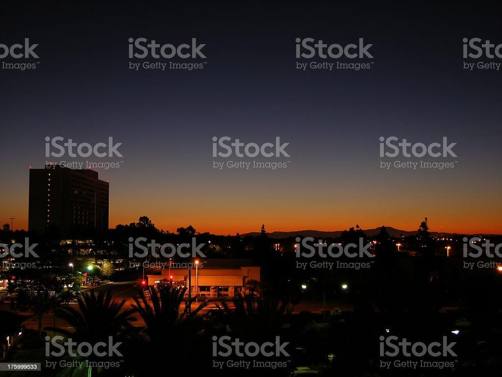 Dawn in LA royalty-free stock photo