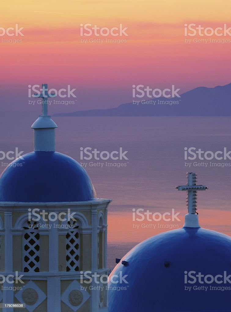 Dawn in Santorini royalty-free stock photo