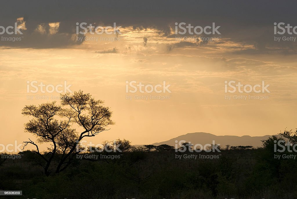 Dawn in Southern Ethiopia royalty-free stock photo
