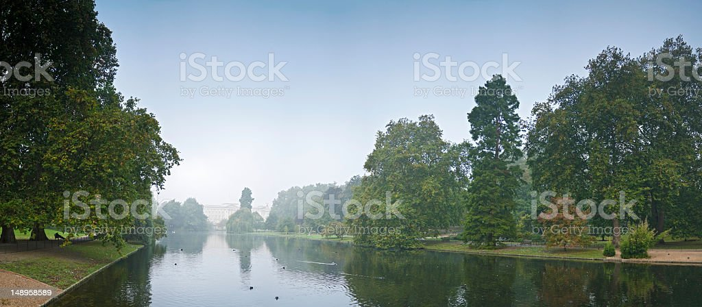 Dawn in St James Park London UK royalty-free stock photo