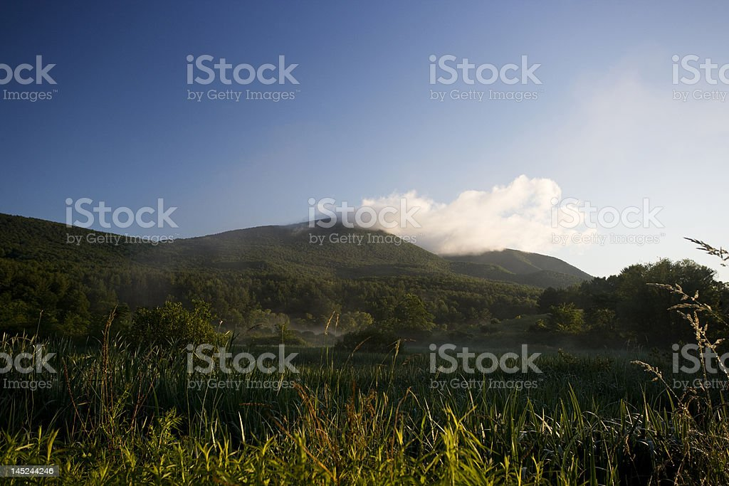 Dawn in Vermont stock photo