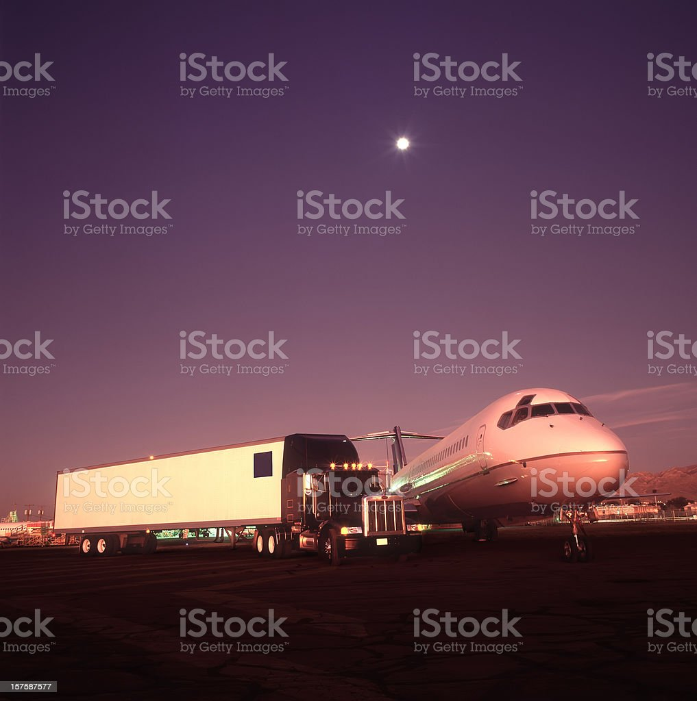 Dawn of New Transportation Day royalty-free stock photo