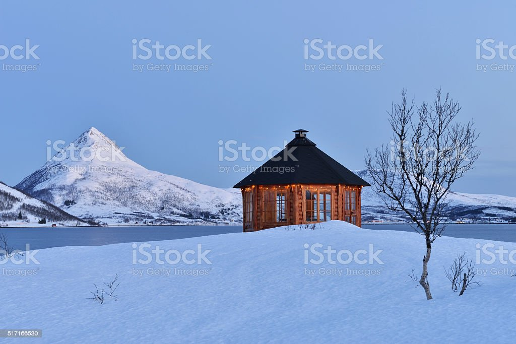 Dawn on Stonnesbotnen, Senja stock photo