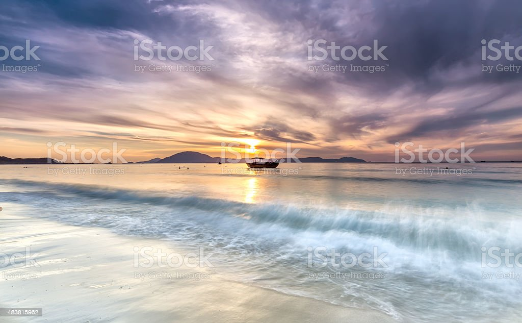 Dawn on the beach Doc Let stock photo
