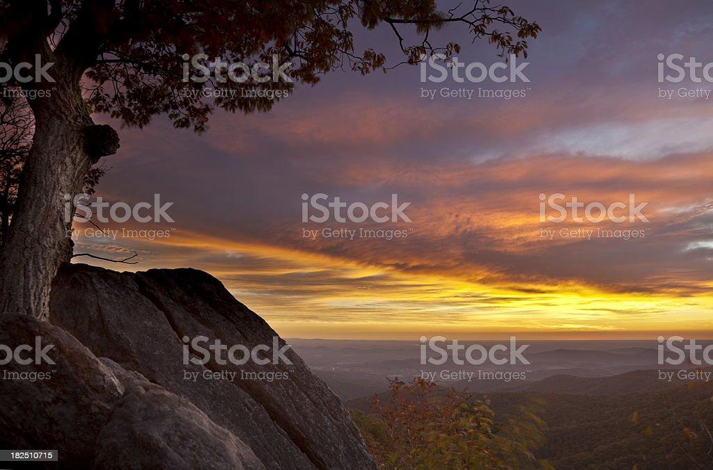 Dawn on the Blue Ridge stock photo