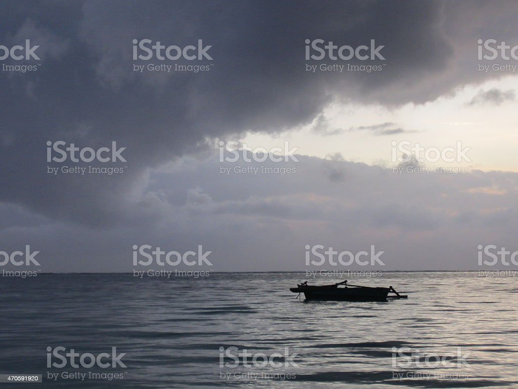 Morgend?mmerung auf dem Meer stock photo