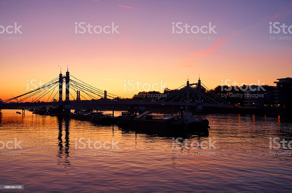 Dawn On The Thames stock photo