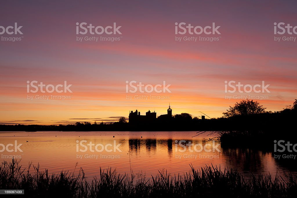 Dawn over Linlithgow Palace. stock photo