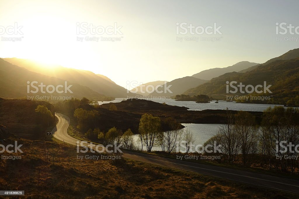 Dawn over Loch Eilt royalty-free stock photo