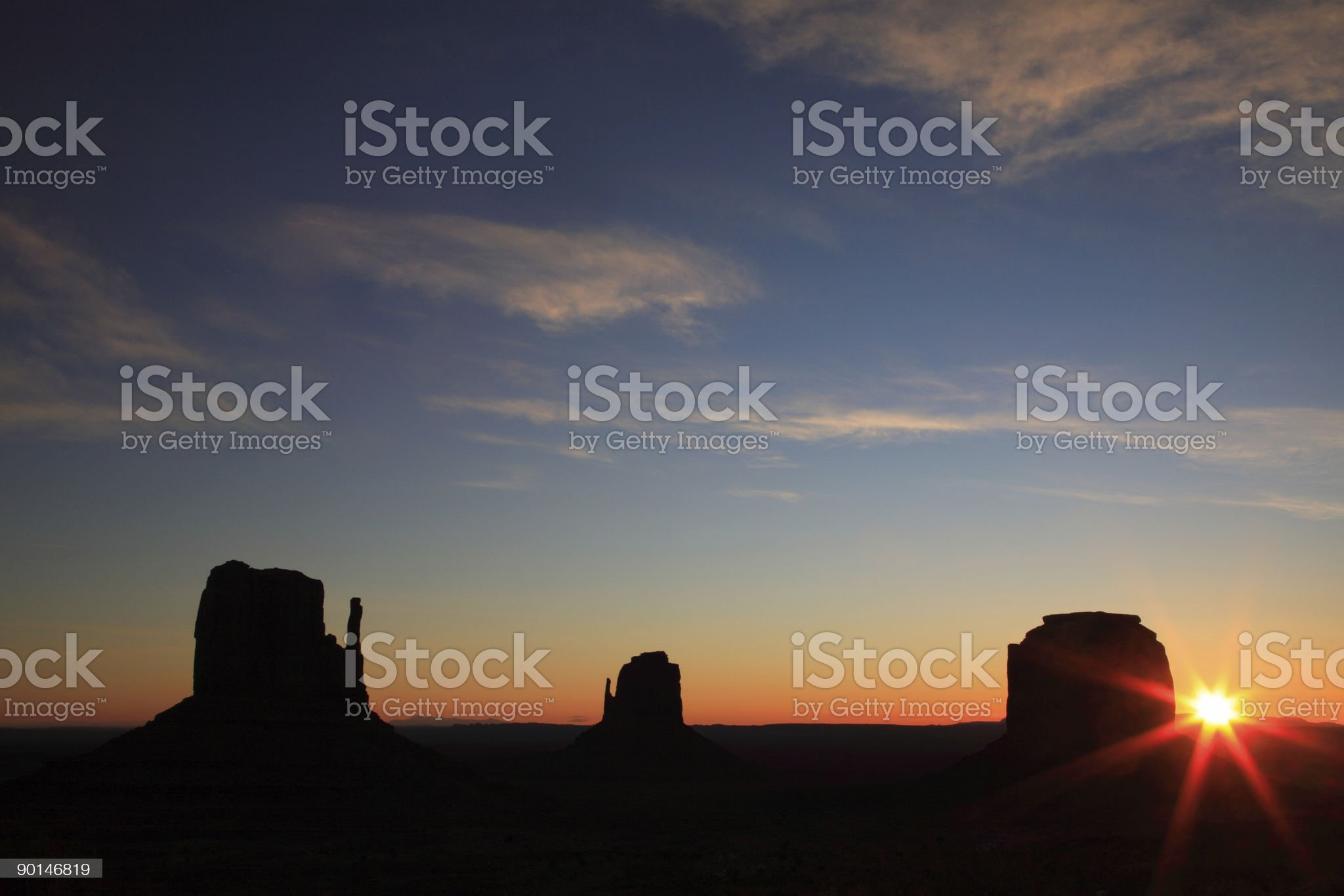 Dawn over Monument Valley royalty-free stock photo