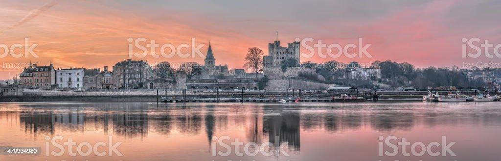 Dawn over Rochester stock photo