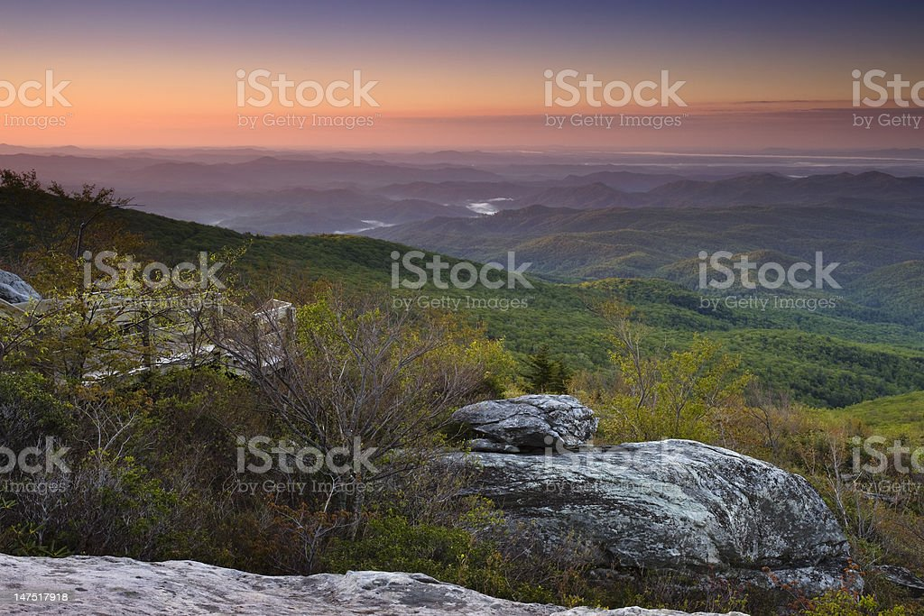 Dawn over the Blue Ridge Mountains royalty-free stock photo