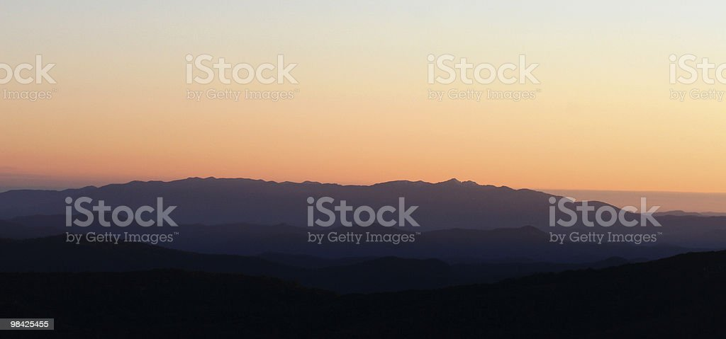 Dawn over the mountains royalty-free stock photo