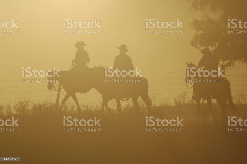 Dawn   Riders royalty-free stock photo
