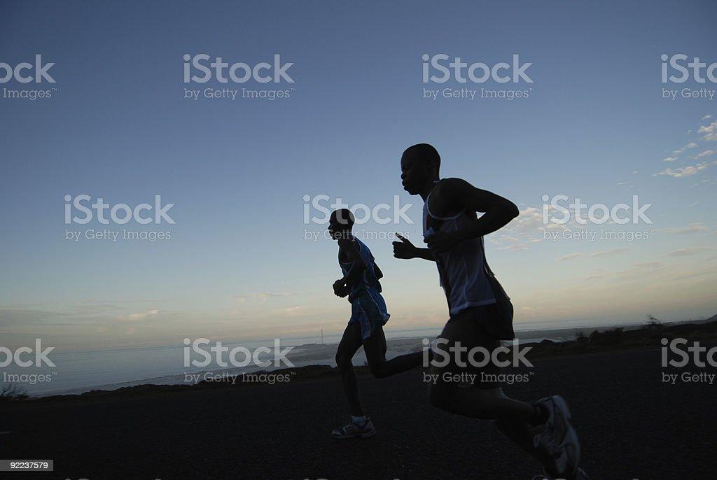 Dawn run stock photo