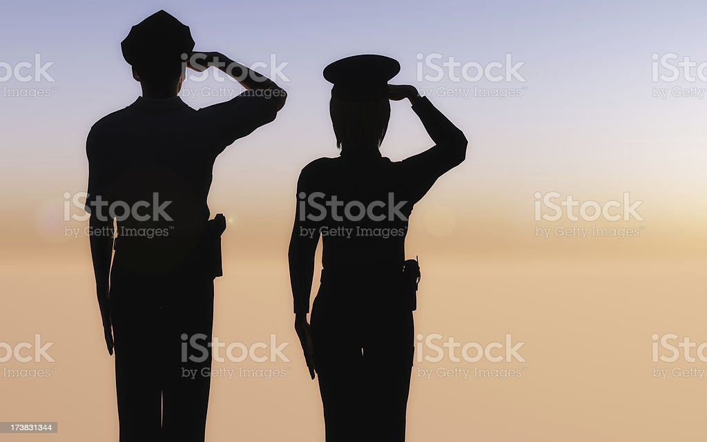 Dawn Salute stock photo