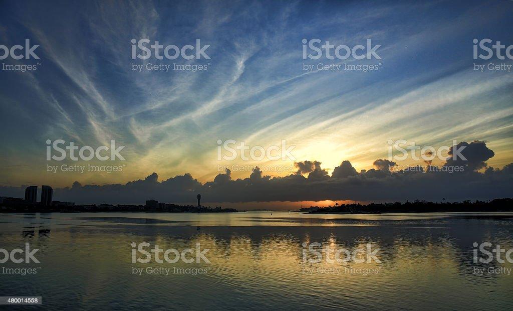Dawn Siloutte stock photo