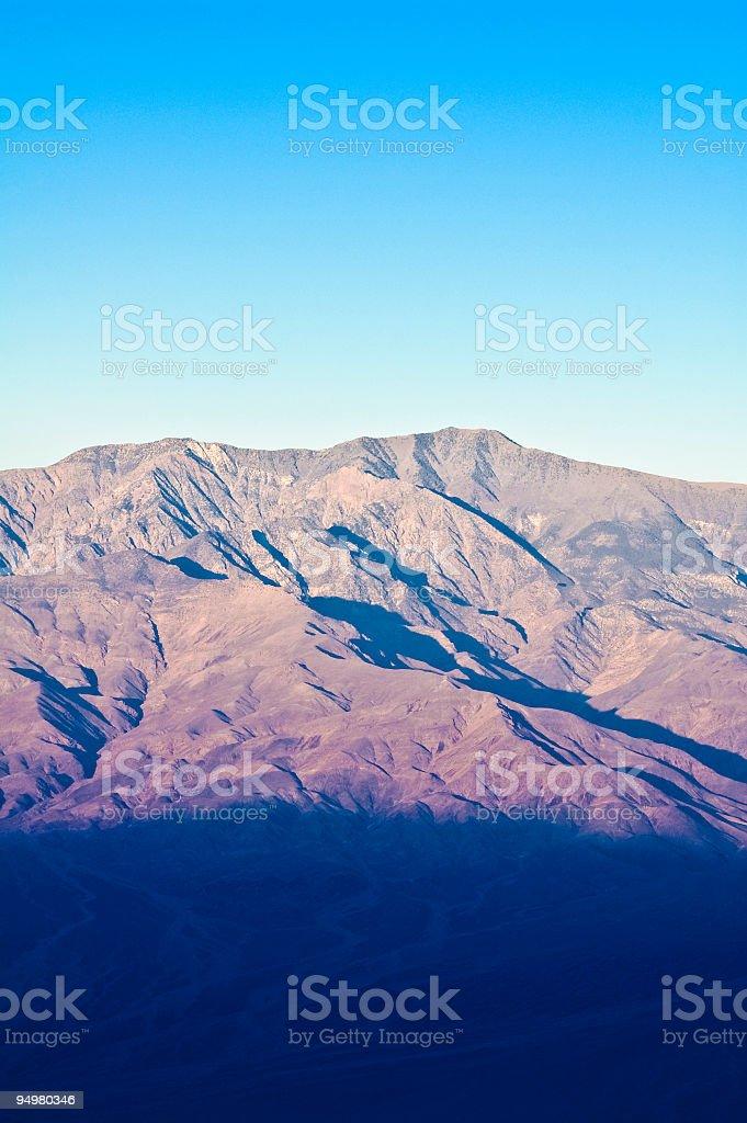 Dawn, Telescope Peak, Death Valley NP royalty-free stock photo