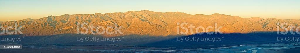 Dawn, Telescope Peak, Death Valley stock photo