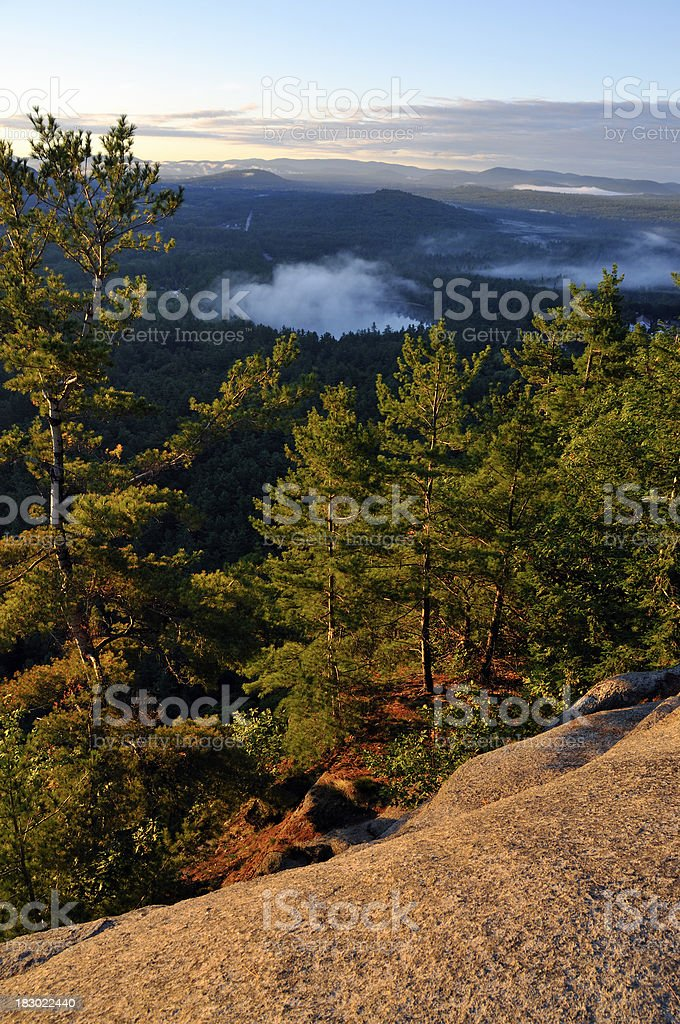 Dawn Wilderness from Atop Cathedral Ledge royalty-free stock photo