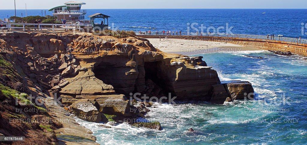 Day along coastal Oceanside stock photo
