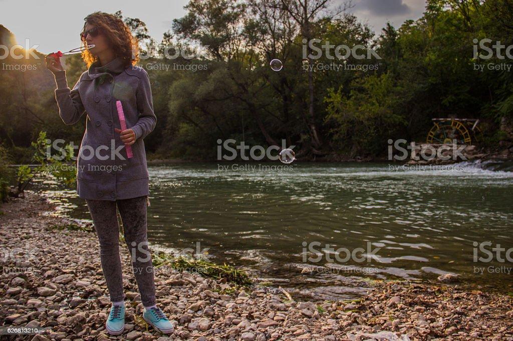 Day at river royalty-free stock photo