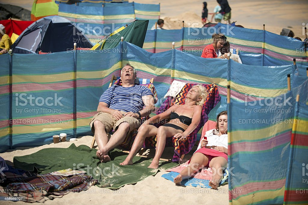 Day at the Beach royalty-free stock photo