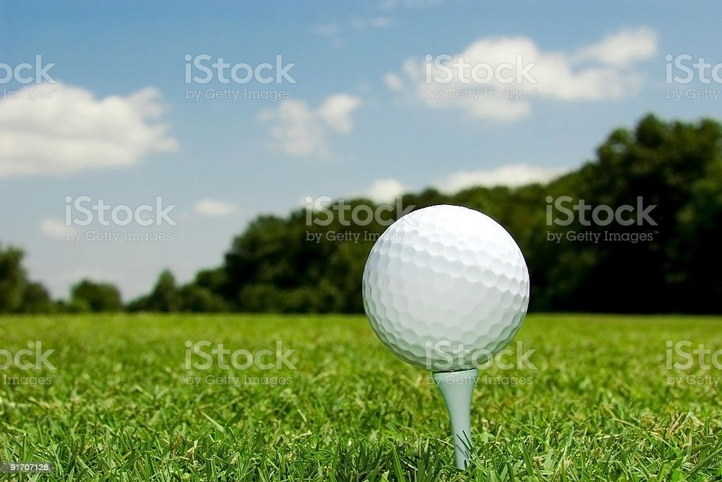 Day at the golf course royalty-free stock photo